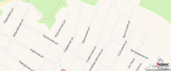 Школьная улица на карте поселка Сиваки с номерами домов