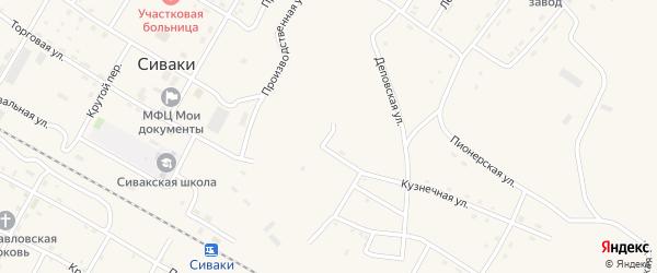 Луговая улица на карте поселка Сиваки с номерами домов