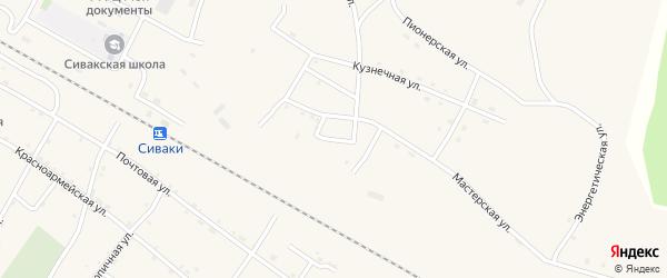 Набережная улица на карте поселка Сиваки с номерами домов