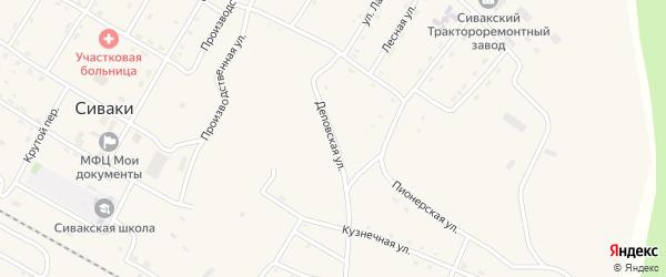Деповская улица на карте поселка Сиваки с номерами домов