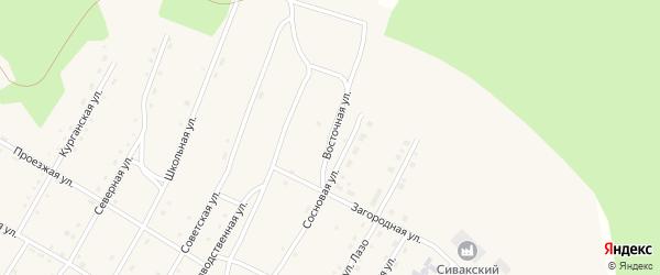 Восточная улица на карте поселка Сиваки с номерами домов