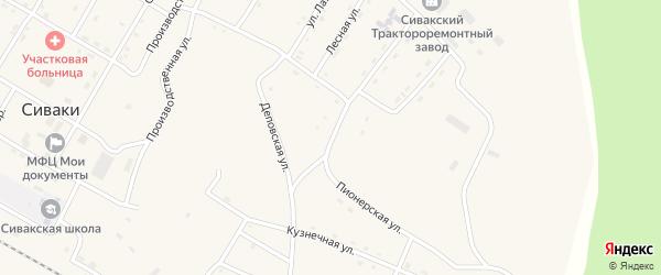 Пионерская улица на карте поселка Сиваки с номерами домов