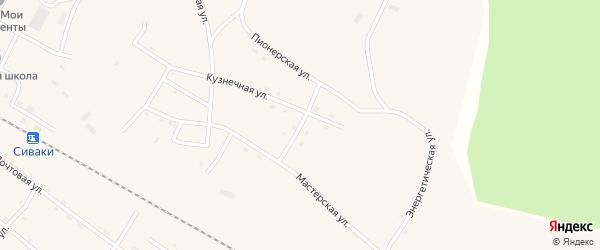 Пролетарская улица на карте поселка Сиваки с номерами домов