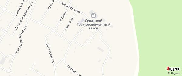 Таежная улица на карте поселка Сиваки с номерами домов