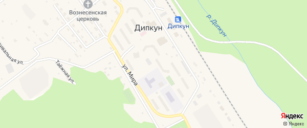 Улица Мира на карте поселка Дипкуна с номерами домов