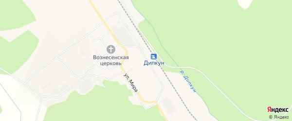 Карта поселка Дипкуна в Амурской области с улицами и номерами домов
