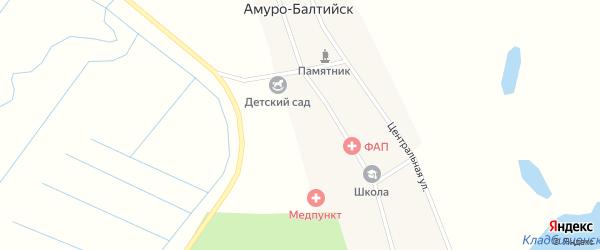 Юбилейная улица на карте села Амуро-Балтийска с номерами домов