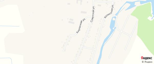 Кирпичная улица на карте села Овсянки с номерами домов