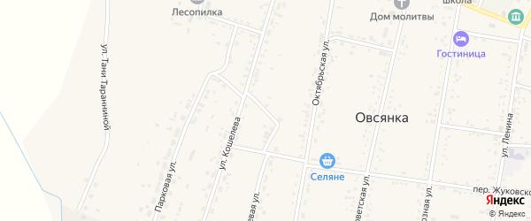 Солнечный переулок на карте села Овсянки с номерами домов
