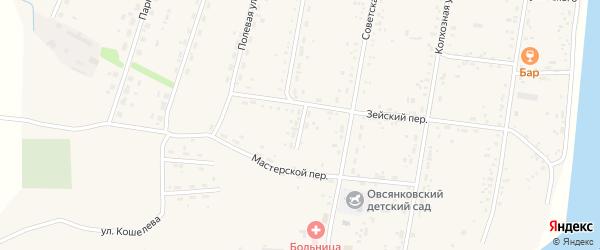 Восточный переулок на карте села Овсянки с номерами домов
