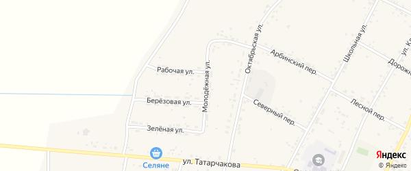 Молодежная улица на карте села Овсянки с номерами домов