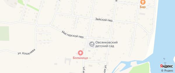 Советская улица на карте села Овсянки с номерами домов