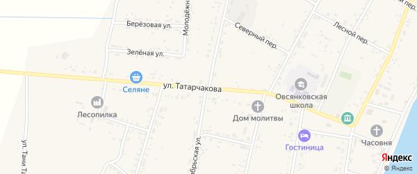 Октябрьская улица на карте села Овсянки с номерами домов