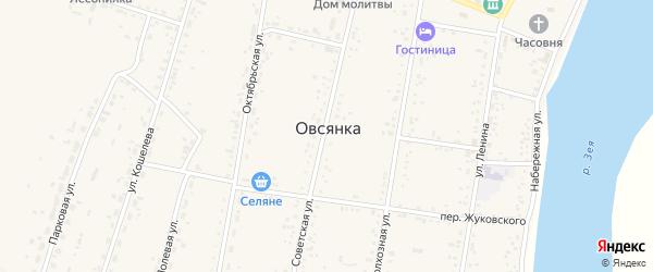 Хвойная улица на карте села Овсянки с номерами домов