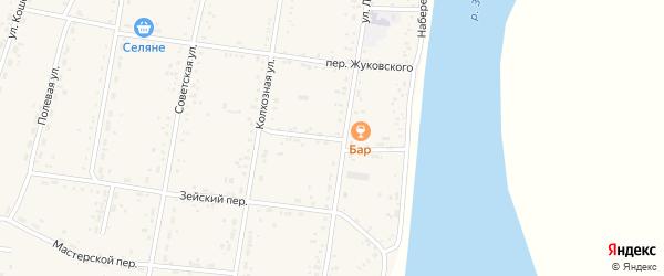 Переулок Шевченко на карте села Овсянки с номерами домов