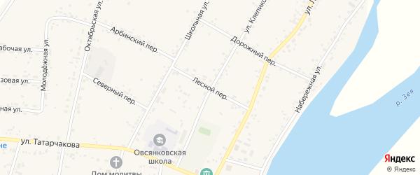 Лесной переулок на карте села Овсянки с номерами домов