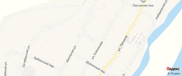 Переулок Пушкина на карте села Овсянки с номерами домов