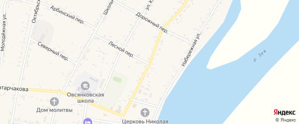 Улица Ленина на карте села Овсянки с номерами домов