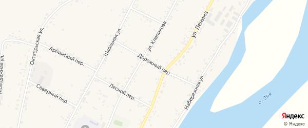 Дорожный переулок на карте села Овсянки с номерами домов