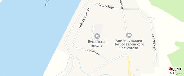 Молодежная улица на карте села Буссе с номерами домов