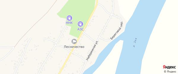 Береговой переулок на карте села Овсянки с номерами домов