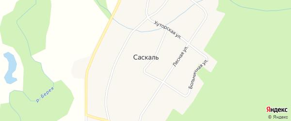 Школьная улица на карте села Саскаля с номерами домов