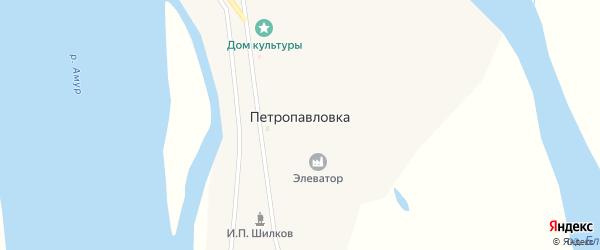Зеленый переулок на карте села Петропавловки с номерами домов
