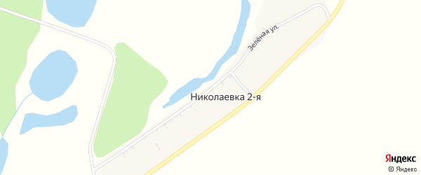 Зеленая улица на карте села Николаевки-1 с номерами домов