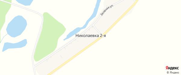 Молодежная улица на карте села Николаевки-2 с номерами домов