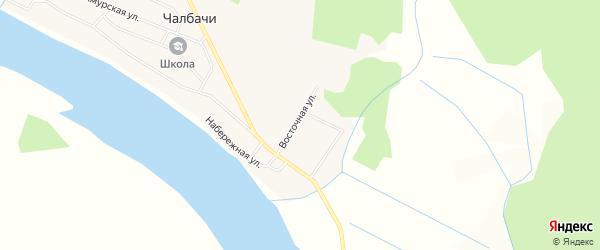 Карта села Чалбачей в Амурской области с улицами и номерами домов