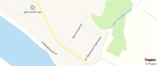 Южный переулок на карте села Чалбачей с номерами домов
