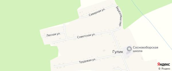 Советская улица на карте села Гулика с номерами домов