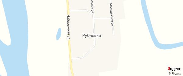 Центральная улица на карте села Рублевки с номерами домов