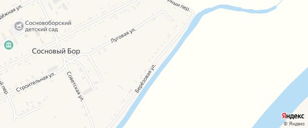 Березовая улица на карте села Соснового Бора с номерами домов