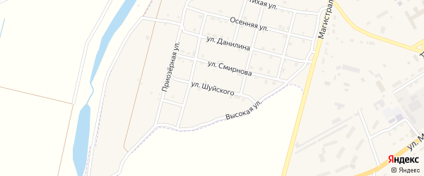 Улица Шуйского на карте Зеи с номерами домов
