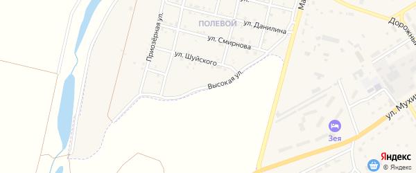 Высокая улица на карте Зеи с номерами домов