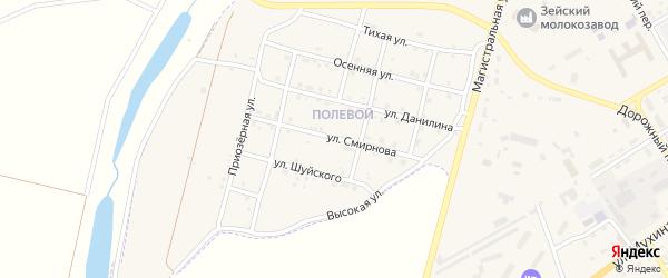 Улица Смирнова на карте Зеи с номерами домов