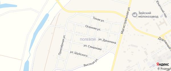 Улица Данилина на карте Зеи с номерами домов