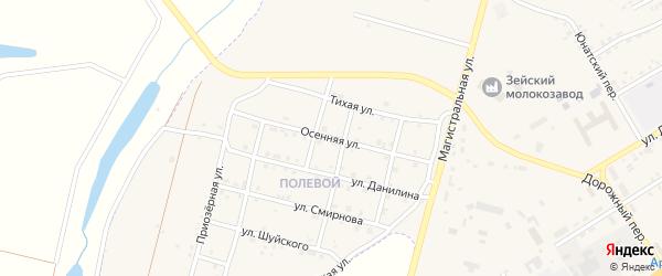 Осенняя улица на карте Зеи с номерами домов