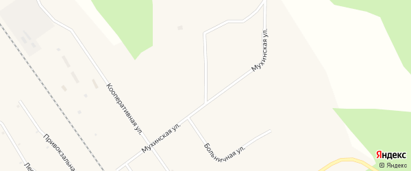 Мухинская улица на карте села Мухино с номерами домов