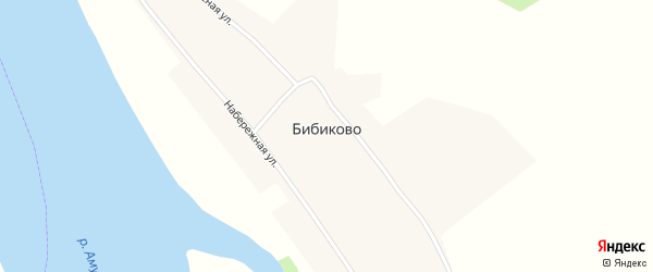 Набережная улица на карте села Бибиково с номерами домов