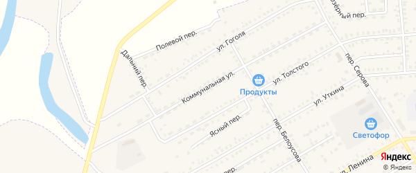 Коммунальная улица на карте Зеи с номерами домов
