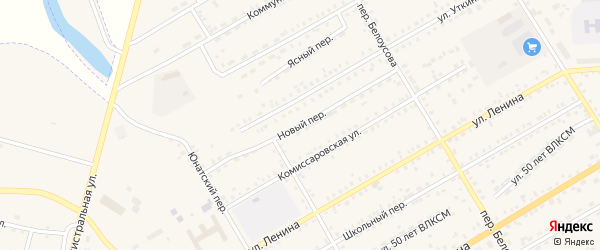 Новый переулок на карте Зеи с номерами домов