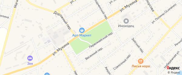 Улица 70-летия Победы на карте Зеи с номерами домов