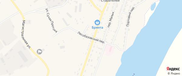 Лесобазовский переулок на карте Зеи с номерами домов