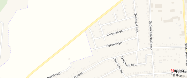 Крайний переулок на карте Зеи с номерами домов
