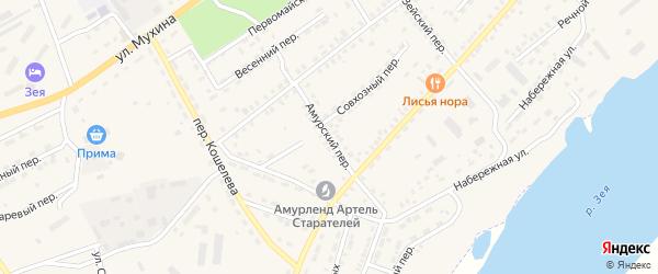 Амурский переулок на карте Зеи с номерами домов