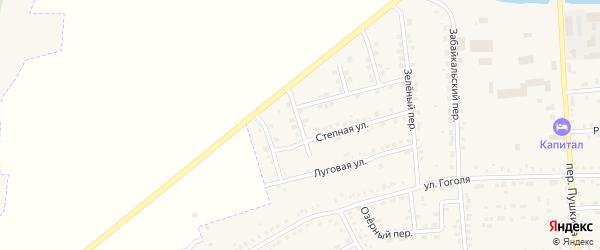 Маревый переулок на карте Зеи с номерами домов