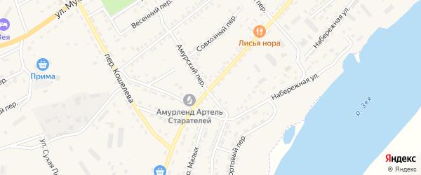 Улица Б.Хмельницкого на карте Зеи с номерами домов