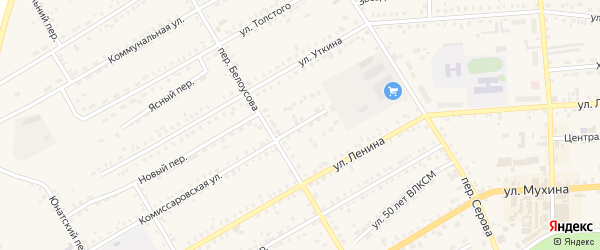 Заводской переулок на карте Зеи с номерами домов